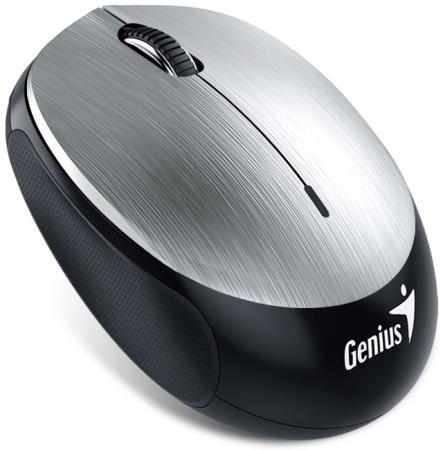 Мышь беспроводная Genius NX-9000BT серебристый чёрный Bluetooth