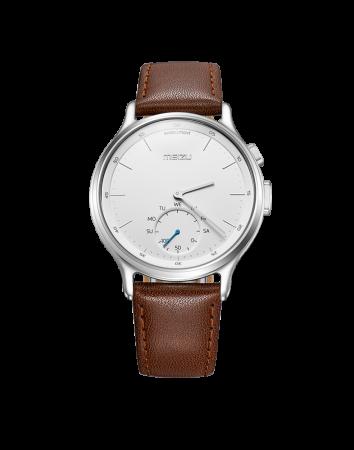 все цены на Смарт-часы Meizu Mix кожаный черный ремешок в комплекте MZWA1S_Leather_Silver онлайн