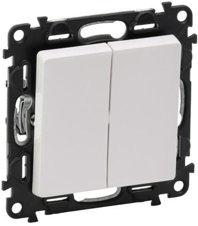 Выключатель двухклавишный Legrand Valena Life 10A 250V белый 752405