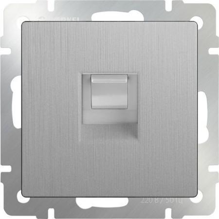 Розетка Ethernet RJ-45 серебряная рифленая WL09-RJ-45 4690389085062 акустическая розетка werkel серебряная рифленая wl09 audiox4
