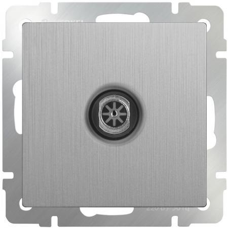 ТВ-розетка оконечная серебряная рифленая WL09-TV 4690389085185 акустическая розетка werkel серебряная рифленая wl09 audiox4