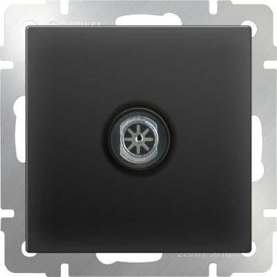 ТВ-розетка оконечная черный матовый WL08-TV 4690389054273 тв розетка проходная черный матовый wl08 tv 2w 4690389073519