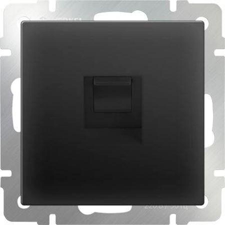 Телефонная розетка RJ-11 черный матовый WL08-RJ-11 4690389054242 телефонная розетка abb bjb basic 55 шато 1 разъем цвет черный