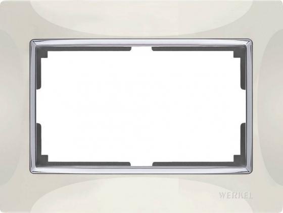 Рамка Snabb для двойной розетки слоновая кость WL03-Frame-01-DBL-ivory 4690389073144