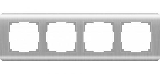Рамка Stream на 4 поста серебряный WL12-Frame-04 4690389076398