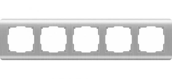 Рамка Stream на 5 постов серебряный WL12-Frame-05 4690389076404