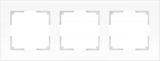 Рамка Favorit на 3 поста белый матовый WL01-Frame-03 4690389098611 рамка favorit на 3 поста белый матовый wl01 frame 03 4690389098611