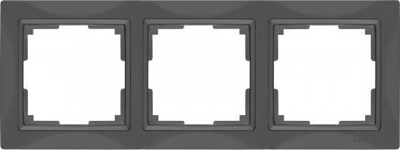 Рамка Snabb Basic на 3 поста серо-коричневый WL03-Frame-03 4690389099052