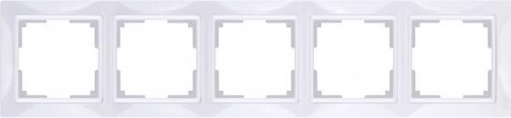Рамка Snabb Basic на 5 постов белый WL03-Frame-04 4690389098796