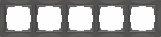 Рамка Snabb Basic на 5 постов серо-коричневый WL03-Frame-04 4690389099076