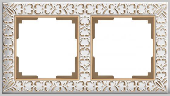 Рамка Antik на 2 поста белое золото WL07-Frame-01 4690389099182 33 element 331430c