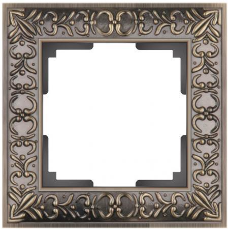 Рамка Antik на 1 пост бронза WL07-Frame-01 4690389054358 schneider merten sd antik беж рамка 1 ая термопласт mtn483144