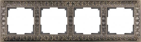 Рамка Antik на 4 поста бронза WL07-Frame-04 4690389054389 schneider merten sd antik беж рамка 1 ая термопласт mtn483144