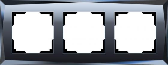 Рамка Diamant на 3 поста черный WL08-Frame-03 4690389054419