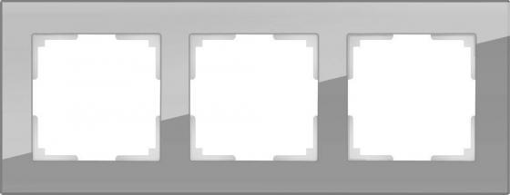 Рамка Favorit на 3 поста серый WL01-Frame-03 4690389061271 рамка favorit на 3 поста белый wl01 frame 03 4690389061226