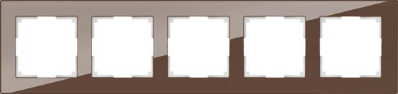 Рамка Favorit на 5 постов мокко WL01-Frame-05 4690389063787 рамка favorit на 5 постов мокко wl01 frame 05 4690389063787