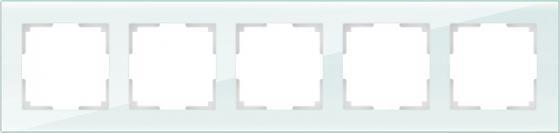 Рамка Favorit на 5 постов натуральное стекло WL01-Frame-05 4690389060205 gira gira esp glass c салатовое стекло рамка 5 ая 0215518