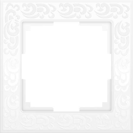 Купить Рамка Flock на 1 пост белая WL05-Frame-01-white 4690389046704, Werkel, белый