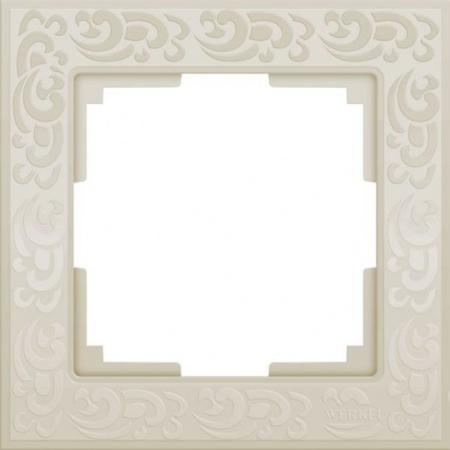 Купить Рамка Flock на 1 пост слоновая кость WL05-Frame-01-ivory 4690389046902, Werkel
