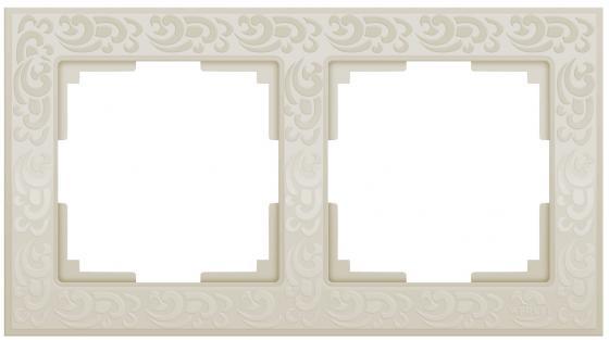 Рамка Flock на 2 поста слоновая кость WL05-Frame-02-ivory 4690389046919 все цены
