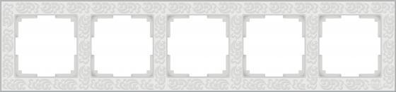Рамка Flock на 5 постов белая WL05-Frame-05-white 4690389059391 все цены
