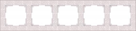 Рамка Flock на 5 постов слоновая кость WL05-Frame-05-ivory 4690389059384