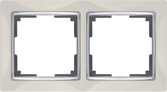 Рамка Snabb на 2 поста слоновая кость WL03-Frame-02-ivory 4690389046315