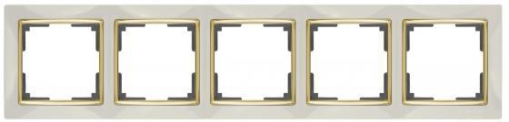 Рамка Snabb на 5 постов слоновая кость WL03-Frame-05-ivory 4690389059339 werkel рамка snabb на 5 постов слоновая кость золото werkel wl03 frame 05 ivory gd 4690389083945