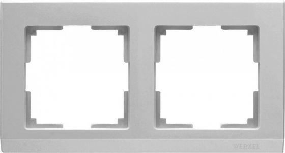 Рамка Stark на 2 поста серебряный WL04-Frame-02 4690389063695 stark