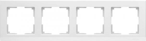Рамка Stark на 4 поста белый WL04-Frame-04-white 4690389047138