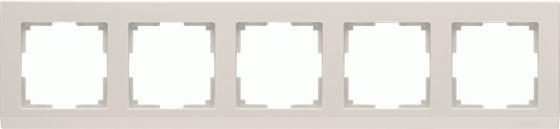 Рамка Stark на 5 постов слоновая кость WL04-Frame-05-ivory 4690389059360