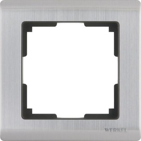 Рамка Metallic на 1 пост глянцевый никель WL02-Frame-01 4690389045905
