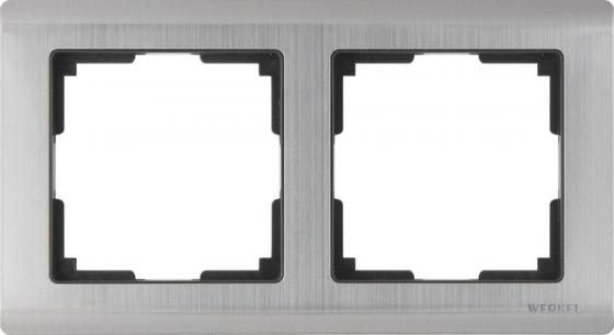 Рамка Metallic на 2 поста глянцевый никель WL02-Frame-02 4690389045912
