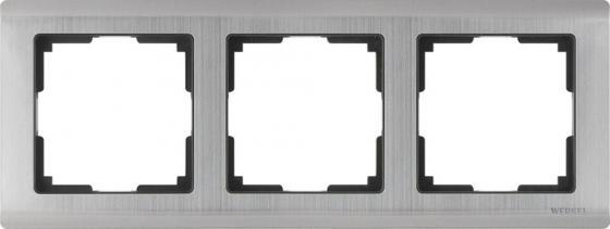 Рамка Metallic на 3 поста глянцевый никель WL02-Frame-03 4690389045929