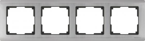 Рамка Metallic на 4 поста глянцевый никель WL02-Frame-04 4690389045936