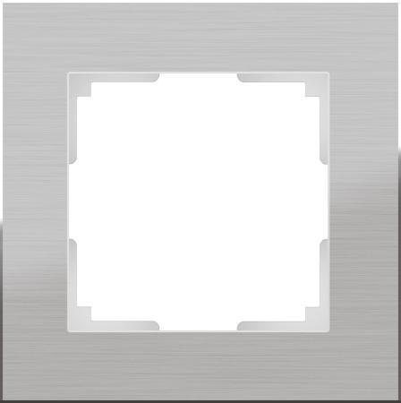 Рамка Aluminium на 1 пост алюминий WL11-Frame-01 4690389073625 werkel рамка aluminium на 4 поста алюминий werkel wl11 frame 04 4690389073663