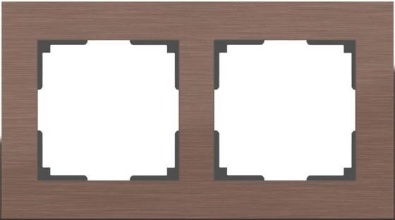 Рамка Aluminium на 2 поста алюминий коричневый WL11-Frame-02 4690389073694 рамка aluminium на 2 поста алюминий черный wl11 frame 02 4690389110450