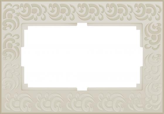 Рамка Flock для двойной розетки слоновая кость WL05-Frame-01-DBL-ivory 4690389073175 рамка flock на 1 пост белая werkel 1022948