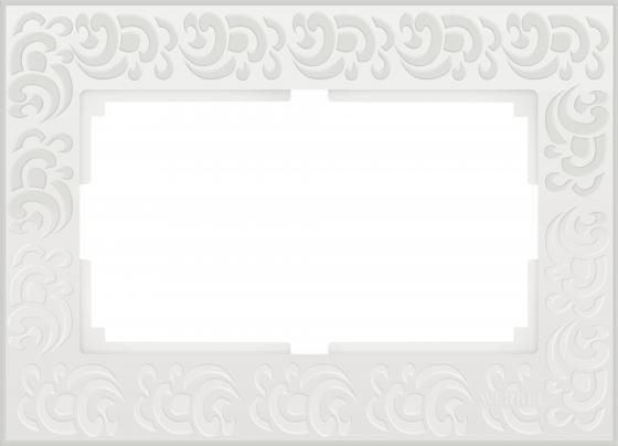 Рамка Flock для двойной розетки белый WL05-Frame-01-DBL-white 4690389073182