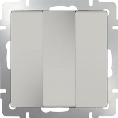 Выключатель трехклавишный слоновая кость WL03-SW-3G-ivory 4690389073434