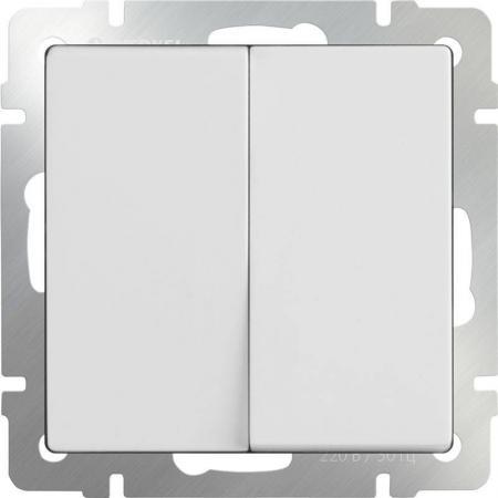 Выключатель двухклавишный проходной белый WL01-SW-2G-2W 4690389045561 выключатель двухклавишный проходной белый wl01 sw 2g 2w 4690389045561