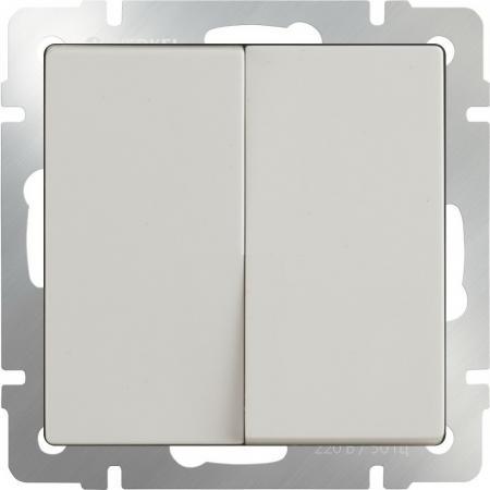 Выключатель двухклавишный слоновая кость WL03-SW-2G-ivory 4690389046162 выключатель двухклавишный слоновая кость wl03 sw 2g ivory 4690389046162