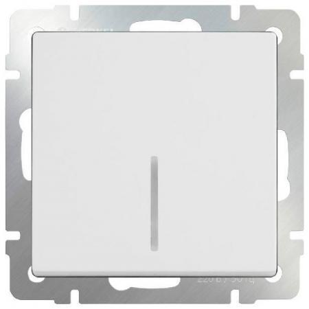 Выключатель одноклавишный проходной с подсветкой белый WL01-SW-1G-2W-LED 4690389059162 бра colosseo susanna 80311 2w