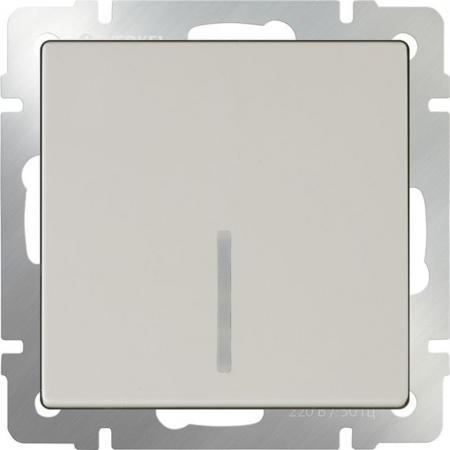 Выключатель одноклавишный проходной с подсветкой слоновая костьWL03-SW-1G-2W-LED-ivory 4690389059254 выключатель двухклавишный проходной с подсветкой слоновая костьwl03 sw 2g 2w led ivory 4690389059278