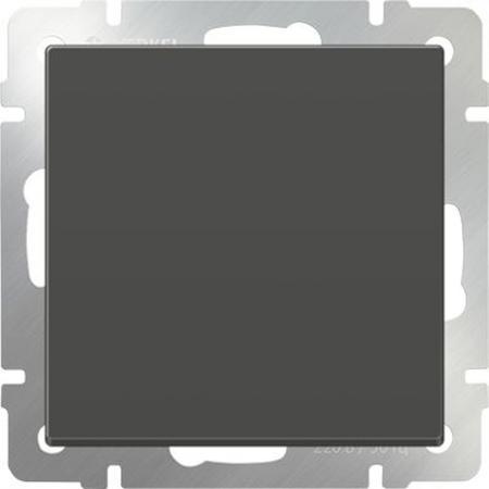 Выключатель одноклавишный проходной серо-коричневый WL07-SW-1G-2W 4690389053986