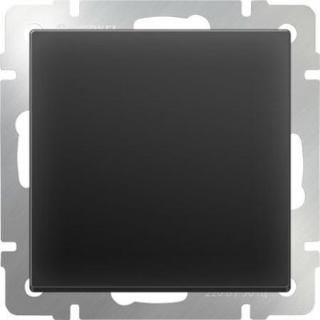 Выключатель одноклавишный проходной черный матовый WL08-SW-1G-2W 4690389054143  цена и фото