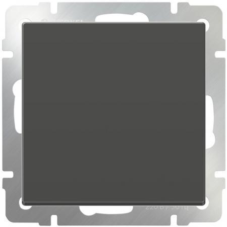 Выключатель одноклавишный серо-коричневый WL07-SW-1G 4690389053979 цена и фото