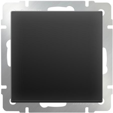 Выключатель одноклавишный черный матовый WL08-SW-1G 4690389054136  werkel выключатель одноклавишный черный матовый wl08 sw 1g 4690389054136