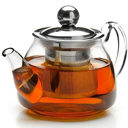 Чайник заварочный Mayer&Boch 26199-MB прозрачный 0.2 л стекло заварочный чайник 1 5 л mayer and boch клубника mb 23981