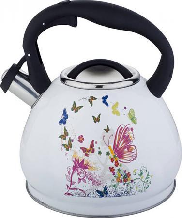 Чайник Bekker BK-S601 белый 3 л нержавеющая сталь чайник kitchenaid kten20sbob чёрный 1 9 л нержавеющая сталь